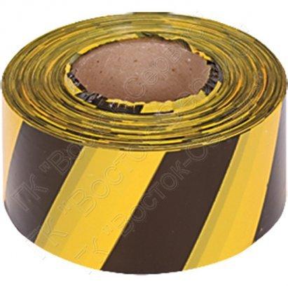 Лента сигнальная желто-черная